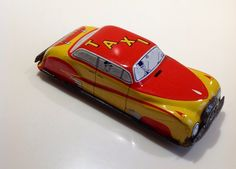Rare 1950s Tinplate Redline Taxi By GTP Made in England | eBay