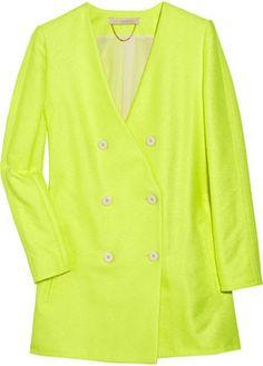 ShopStyle: Vanessa Bruno Neon woven jacket
