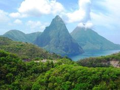 The Pitons of St. Lucia ... they are even more beautiful in person :)