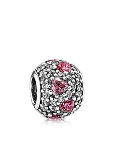 PANDORA Charm - Sterling Silver & Cubic Zirconia Shimmering Heart | Bloomingdale's