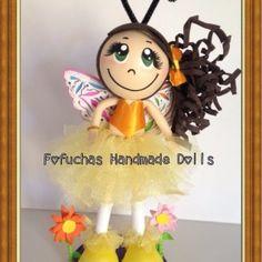 butterfly Fofucha 3d Foamy doll