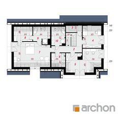 Dom w skrzydłokwiatach 2 Floor Plans, House Design, Gallery, House, Roof Rack, Architecture Design, House Plans, Home Design, Floor Plan Drawing
