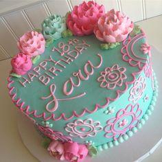 Cake Icing, Buttercream Cake, Cupcake Cakes, Pretty Cakes, Beautiful Cakes, Amazing Cakes, Birthday Cake Decorating, Cake Decorating Tips, Unique Cakes
