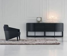 potocco italy | diva sideboard  Design: Alexander Lorenz. Sideboard with curved profile, 6 drawers, and rounded swing doors on each end. Available in stained Oak in a variety of finishes.  245 cm w x 55 cm d x 90 cm h 96.45 w x 21.65 d x 35.43 h  $8,375.00 | stained Oak