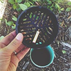 """""""another find this morn under the cap of a drainage tube! #geocaching #sandiego #elcajon"""""""