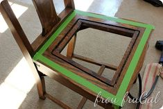 Replacing the seat of a dining room chair. Diy Furniture Chair, Furniture Update, Cottage Furniture, Chair Upholstery, Upholstered Chairs, Master Bedroom Makeover, Chair Makeover, Paint Stain, Antique Stores