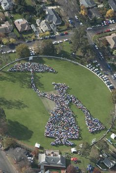 2115 umbrellas were raised for 10 minutes to form the biggest ever umbrella mosaic. Bowral, Australia welcomes Mary Poppins back to her spiritual birthplace around 100 years ago.