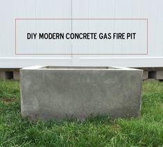 DIY Modern Gas Fire Pit Tutorial | www.SimplyCait.com