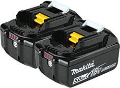 Makita DLX6068PT 18 V LXT 6 Pièce Kit 2 x 5.0Ah piles avec double port chargeur