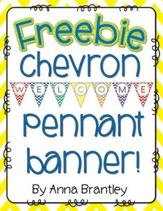 Add a welcoming touch to your classroom or hallway with this chevron welcome pennant banner! Just print, laminate, and use ribbon to hang.  Need more chevron? Check out my  Keep Calm and Chevron Decor {editable} !  Thanks so much for visiting my store:) Anna Brantley