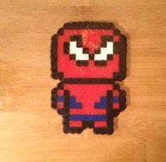Spiderman Perler Bead Art on Etsy, $3.50