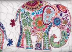 indian elephant fabric - Google Search