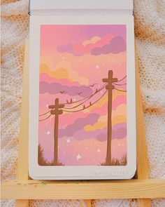 18 Beautiful Gouache Paintings and What is Gouache? Pink Sky Painting