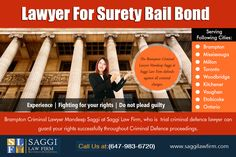 Tips For Selecting A Bail Hearing Lawyer Brampton at http://saggilawfirm.com/about-us/ Bail & Bonds Lawyer In Mississauga Service Provider with Unparalleled Expertise at http://saggilawfirm.com/ Lawyer For Surety Bail Bond Service makes the option more accessible to everyone, regardless of income or social status.  Our Service:  Bail Lawyer Brampton Bail Lawyer Mississauga How Long Can You Be Held Without Bond