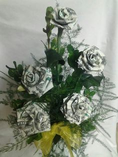Money Flowers ~ Special Order Made by Maria Da Warden Perez