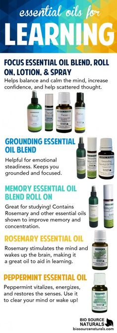 Learning and Essential Oils. Essential oils can be a great help for learning and focus! We have some fantastic products that are tailored to helping you retain information better. Discover what oils are best for you!