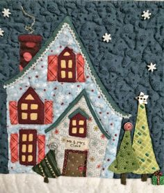 Welcome to the North Pole, Santa's House Detail (2015) Quilt by Anissa Arnold, Pattern by Piece O'Cake Designs, Quilting by Jackie Arnold
