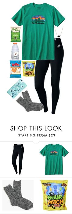 """""""Baking """" by kennamber ❤ liked on Polyvore featuring NIKE, Patagonia, J.Crew, Kendra Scott and emilysfallcontest"""