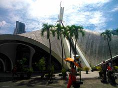 Saint Andrew the Apostle Church Filipino Architecture, Philippine Architecture, Andrew The Apostle, Philippine Houses, Makati City, Hispanic Heritage, Moorish, Colonial, Philippines