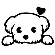 Woopower Cute Puppy Dog Wall Sticker Removable Switch Sticker For Childrens Bedroom Living Room Home Decor * You could learn more information at the link of the photo. (This is an affiliate link). Art Drawings Sketches, Animal Drawings, Easy Drawings, Wall Painting Decor, Dog Tattoos, Dog Art, Doodle Art, Painted Rocks, Cute Dogs