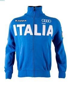Kappa Men Italian Alpine FIS Badges Team Sweater - Azzurro