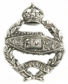 Royal Tank Corps cap badge