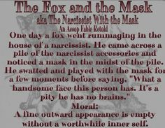 The Fox and the mask Narcissistic Abuse Recovery, Narcissistic Behavior, Narcissistic Sociopath, Emotional Abuse, I Hate Liars, Toxic Men, Emotional Vampire, Evil People