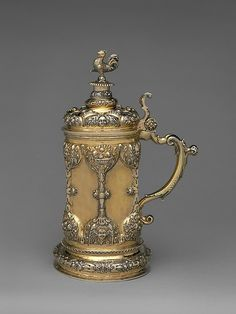 "Georgius Olescher Sr. (active from 1693, died 1707). Tankard, late 17th century. Hungarian, Brassó. The Metropolitan Museum of Art, New York. Gift of The Salgo Trust for Education, New York, in memory of Nicolas M. Salgo, 2010 (2010.110.51) | This work is featured in our ""Hungarian Treasure: Silver from the Nicolas M. Salgo Collection"" exhibition on view through October 25, 2015 #HungarianTreasure"