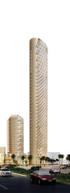 The Grand Boulevard Tower, Dubai, UAE designed by Adrian Smith and Gordon Gill :: 69 and 22 floors :: approved