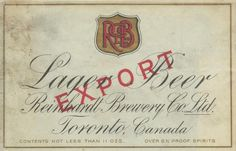 Lager Beer Export by Thomas Fisher Rare Book Library, via Flickr