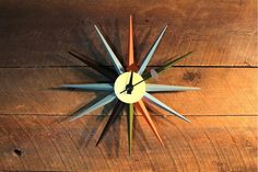 SUNBURST Clock - Multi Color Inspired By George Nelson – Wazo Furniture