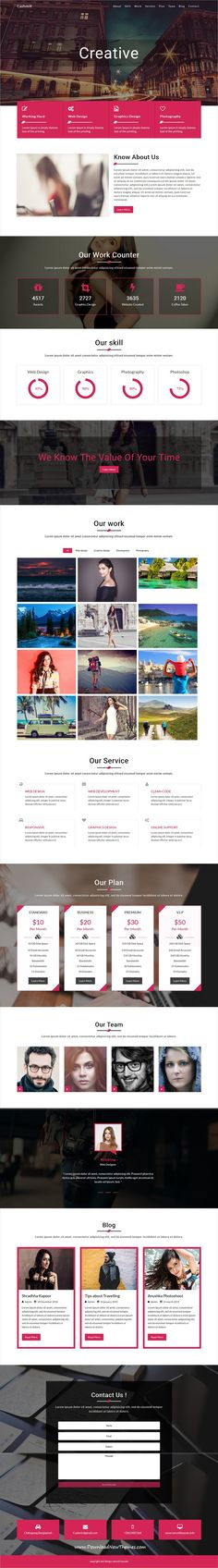 Cashmir is clean and modern design 4in1 responsive #bootstrap HTML template for creative #designer, developer, photographers and agencies #website to live preview & download click on image or Visit