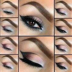 Smokey Eyes with a soft brow eyebrow to lighten the overall effect