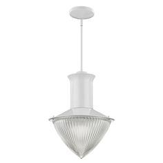 Skylar 1-light pendant in white