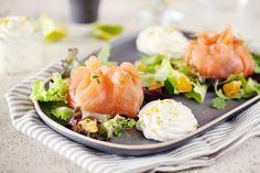 Recette d'Aumônières de saumon à la clémentine et aux gambas par Chef Nini - Marie Claire