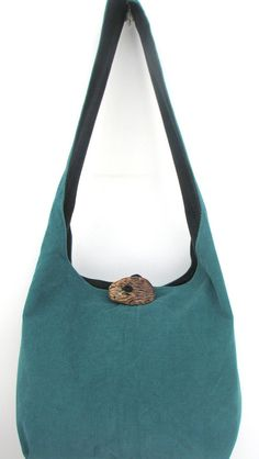 GREY STRIPED HOBO Bag Long Strap Crossbody Bag Reversible Boho Bag ...