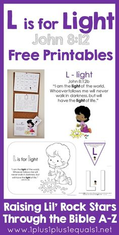 Bible Verse Printables Letter L is for LIGHT ~ Raising Lil Rock Stars Through the Bible A to Z