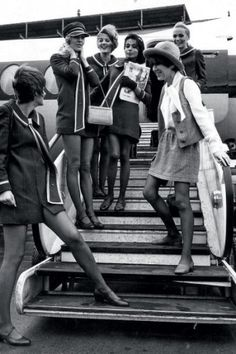 Mary Quant and models, 1968