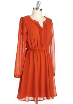 Take a Juice Break Dress, Unique Dresses, Cute Dresses, Orange Dress Outfits, Retro Vintage Dresses, Mod Dress, Dress Me Up, Spring Summer Fashion, Fashion Dresses, Modcloth