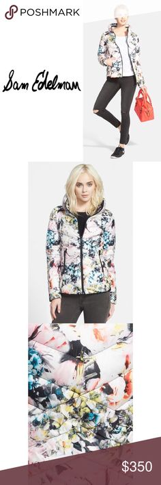 •🦋2xHP🦋 NEW • \\Sam Edelman// NWT [Never worn] Quilted puffer jacket boast a stunning floral print• Folds up into a drawstring travel pouch. Polyester fabrication and down fill offers light protection from the elements///Oversized fold-over collar///Fully lined•Shell_ Machine wash cold, tumble dry low. Imported• . . . . . Open to reasonable offers::: Various Bundle deals available• just ask❄️ ❌No trading, just looking to sell::: Same day shipping::: Wear with ❤️ Sam Edelman Jackets & Coats…