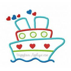 Valentine Boat Applique Design  -- Another great design from Happytown Applique.  Love it.