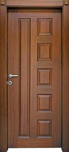 Top 50 Modern Wooden Door Design Ideas You Want To Choose Them For Your Home - E. - Wood doors interior - Top 50 Modern Wooden Door Design Ideas You Want To Choose Them For Your Home – Engineering Discov - House Main Door Design, Single Door Design, Home Door Design, Wooden Front Door Design, Double Door Design, Bedroom Door Design, Wooden Front Doors, Door Design Interior, Wooden Double Doors