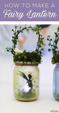 How to Make Charming Summer Fairy Lanterns These adorable fairy lanterns are not only easy to make but look adorable in a garden or used as a nigh light. They will spark your child's imagination. Pot Mason Diy, Mason Jar Crafts, Mason Jars, Fairy Lanterns, Fairy Lights, Paper Lanterns, Fairy Jars, Fairy Light Jar, Garden Party Decorations