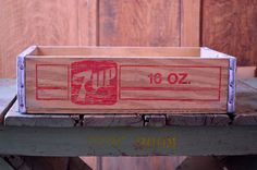VINTAGE 7 UP CRATE, WOODEN 7UP CRATE, 1960S 7UP SODA CRATE, WATERTOWN WISCONSIN  Very nice vintage 7UP crate. Red logo and script still bright.
