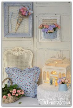 shabby chic/cottage - several wonderful elements here and I love the colors.