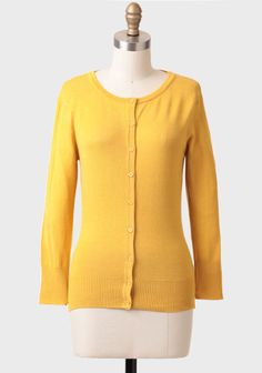 I love this! I ordered the last one. Perfect for spring.  Care For You Cardigan In Mustard at #Ruche @Ruche