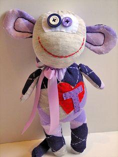 sock monster - monkey (large) | Flickr - Photo Sharing!