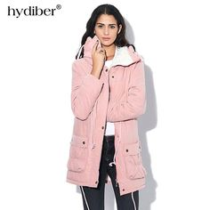 e0716ee2803 New 2018 Winter Coat Women military Outwear Medium-Long Wadded Hooded snow  Parka thickness Cotton