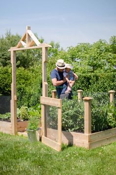 Gardening becomes fun for the whole family with a raised square foot vegetable gardenl