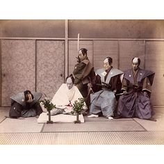 """Seppuku (切腹) A 19th century reenactment of the ritual  Seppuku, also known as harakiri (腹切り) is a form of Japanese ritual suicide by disembowelment.…"""
